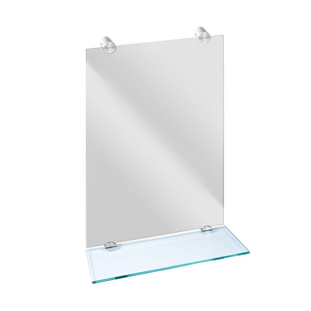 Round Mirror & Glass Shelf Brackets - 18TEN ACCESSORIES